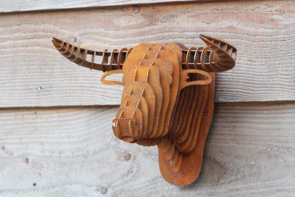 Primos-deco decoratie in Reusel stalen decoratie dierenhoofden van Staal Reusel Bladel Hapert Eersel Hulsel Netersel